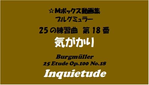 ブルグミューラー25-18気がかり