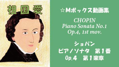 ショパン ピアノソナタ 第1番 ハ短調 Op.4 第1楽章