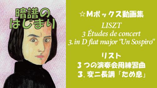 リスト 3つの演奏会用練習曲 第3番 変ニ長調 ため息 S.144-3