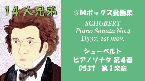 シューベルト ピアノソナタ 第4番 D537 第1楽章