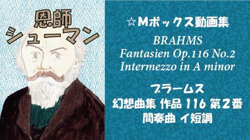 ブラームス 幻想曲集 第2番 間奏曲 Op.116-2