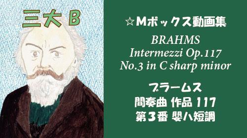 ブラームス 間奏曲 第3番 Op.117-3