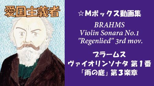 ブラームス ヴァイオリンソナタ 第1番 雨の庭 第3楽章