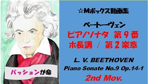 ベートーヴェンピアノソナタ第9番第2楽章