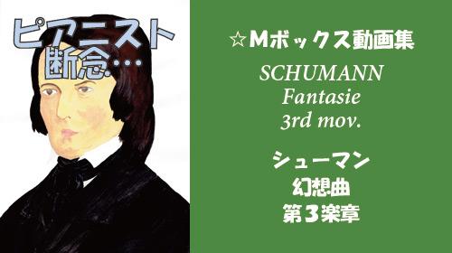 シューマン 幻想曲 第3楽章