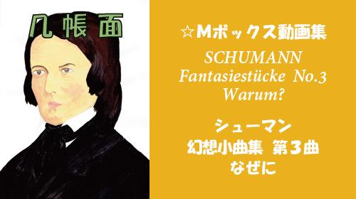 シューマン 幻想小曲集 Op.12 第3曲 なぜに