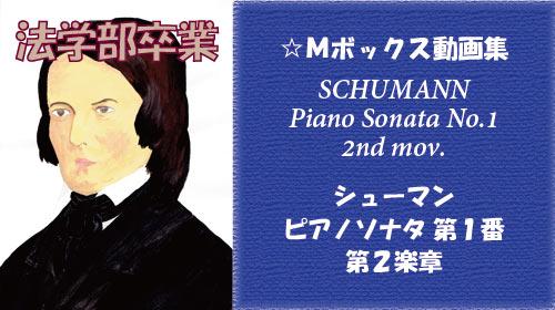 シューマン ピアノソナタ 第1番 第2楽章
