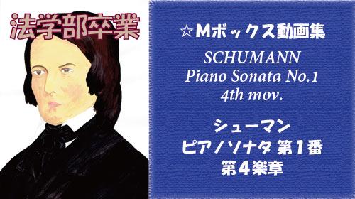 シューマン ピアノソナタ 第1番 第4楽章