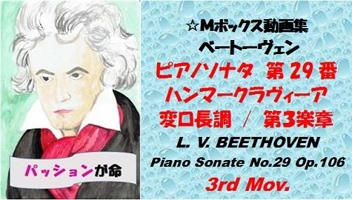 ベートーヴェンピアノソナタ第29番第3楽章