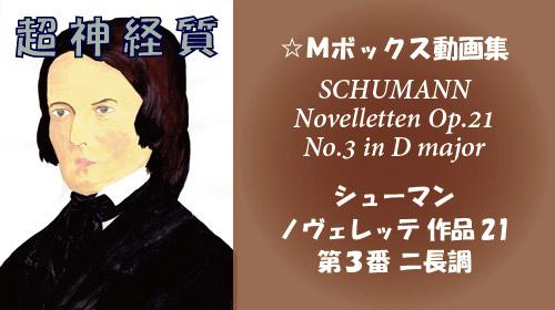 シューマン ノヴェレッテ 第3番 ニ長調 Op.21-3