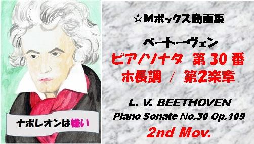 ベートーヴェンピアノソナタ第30番第2楽章