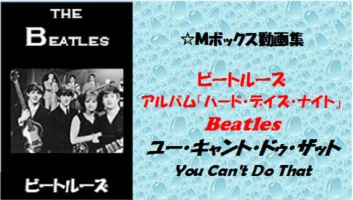 Beatles ユー・キャント・ドゥ・ザット