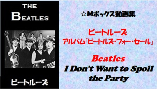 ビートルーズ・フォー・セール_#12_I Don't Want to Spoil the Party